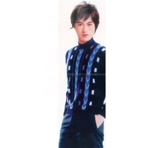 羊绒衫--男士高领竖条纹毛衣