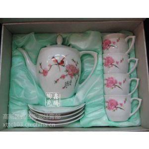 供应粉彩花卉茶具,纯手工套装茶具,鑫腾陶瓷