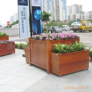 供应广州厂家直销 豪华大容量 优质防腐木 实木花箱