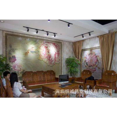 厂家批发陶瓷背景墙uv打印机/平板数码印花创业设备/玻璃瓷砖万能3D印花设备