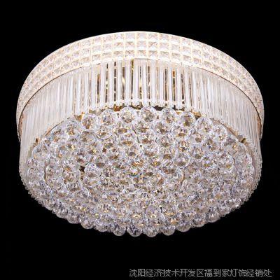 新爆款促销led奢华吸顶灯金色水晶灯饰 可订做 客厅酒店工程83568