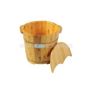 供应香柏园35cm高双耳香柏木桶泡脚桶洗脚桶足浴桶足浴盆