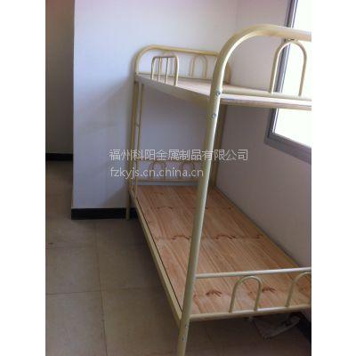 供应双层上下铺双层床铁床学生床员工床圆管双层床