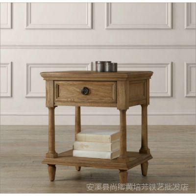 美式乡村家具 卧房实木床头柜 新西兰松木床头柜 简约创意