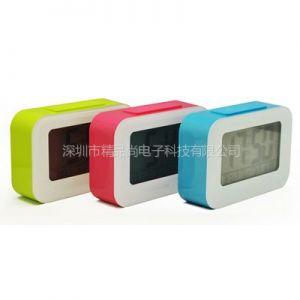 供应新品 创意静音闹钟大屏幕数字LED聪明钟儿童床头闹钟 厂家专利正品