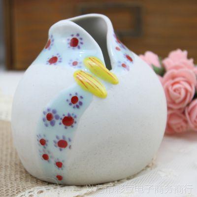 手工创意衣服形水培陶瓷花插结婚礼品家居特色工艺品摆件生日礼物