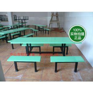 供应珠海制衣工厂玻璃钢餐台桌 学校食堂餐台桌 玻璃钢学生桌 玻璃钢椅子