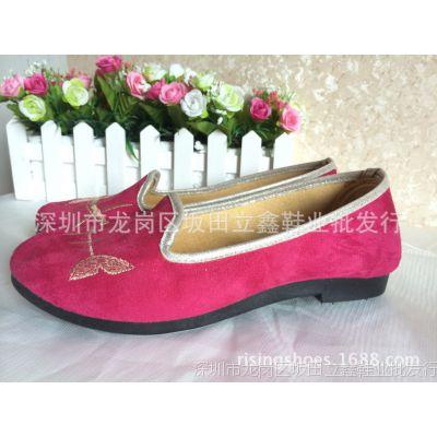 鱼形图女式单鞋 平底休闲鞋 休闲老北京布鞋 现货供应批发