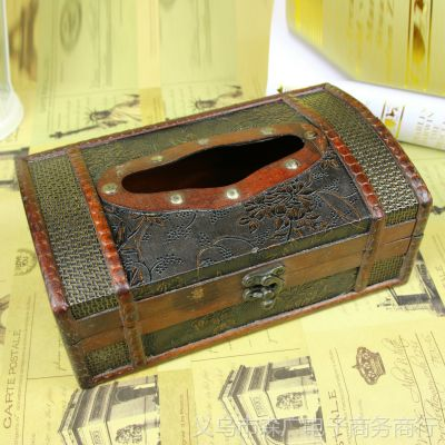 热销 复古纸巾盒 家居用品批发 木质工艺品 木质纸巾盒加工定制