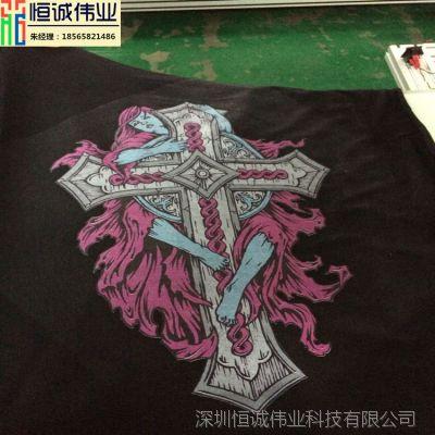 UV万能印花机t恤打印机销量领先彩印机设备 定制订做成衣印花机械