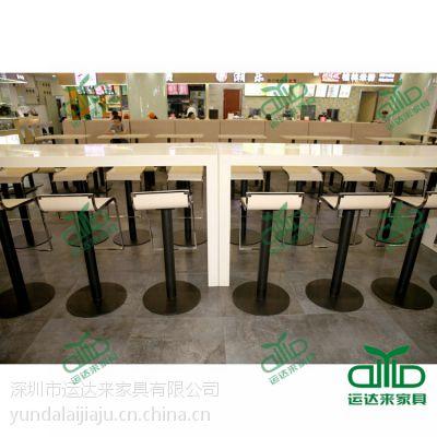 肯德基快餐桌椅批发 板式快餐厅桌椅分体工程量身定制
