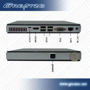 供应ZC-H520高清迷你客厅电脑 GT218主板可作数字标牌机 支持异步同显