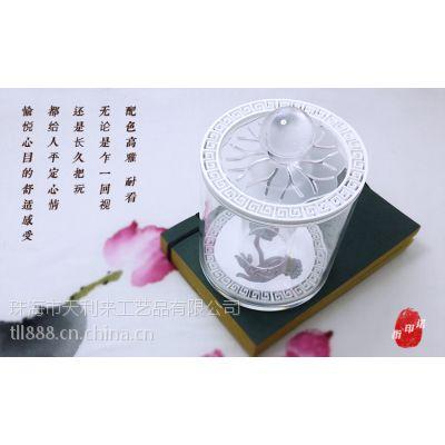 珠海天利来亚克力旗下品牌 当其无 原创中式棉签牙签收纳盒中式摆件
