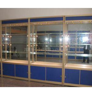 供应精品货架jz-11    1000*350*1960mm3层玻璃