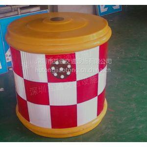 600x800太阳能防撞桶价格、互通玻璃钢防撞桶批发、塑料隔离桶价格