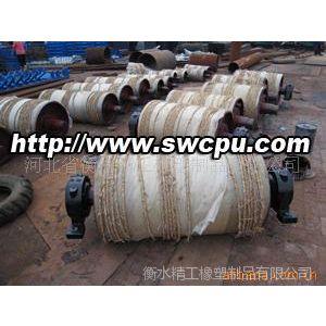 供应输送机橡胶滚筒 菱形沟铸胶面滚筒