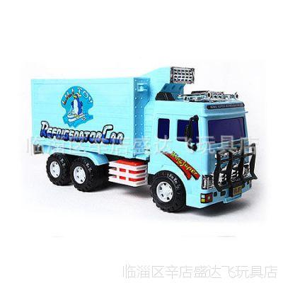 特价力利工程车系列大号32812超级惯性冷冻冷藏车可开门儿童玩具