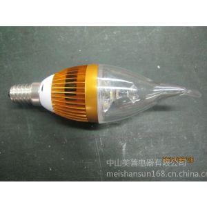 供应厂家直销恒流式3W LED铝壳拉尾泡