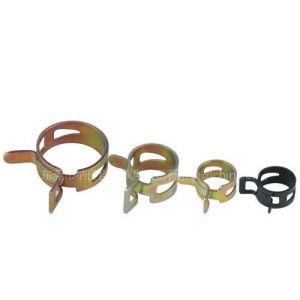 供应冲孔、压槽、弯曲成型一次完成钢带型弹性环箍卡夹卡扣