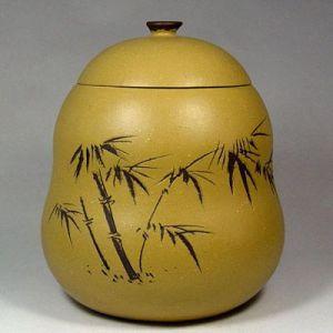 供应宜兴紫砂茶叶罐《葫芦紫砂茶罐》,普洱醒茶罐
