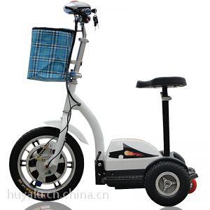 供应36V48V老人三轮车休闲车老年电动车电动滑板车迷你折叠电动自行车