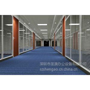 供应透明隔断 玻璃隔墙 深圳屏风隔断厂家
