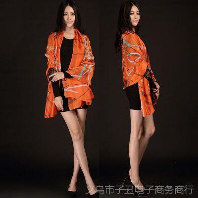 2014新款 韩版丝巾 大马车丝绒围巾 女士围巾春夏披肩 批发 举报