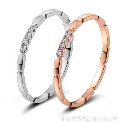 925银闺蜜戒指 银饰批发 时尚女戒指