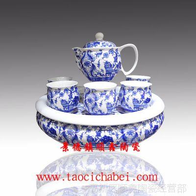 【厂家直销】景德镇陶瓷茶具 大茶盘茶具 8头陶瓷茶具套装
