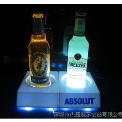 供应压克力单个酒瓶座,发光座,LED发光台座,深圳专业生产