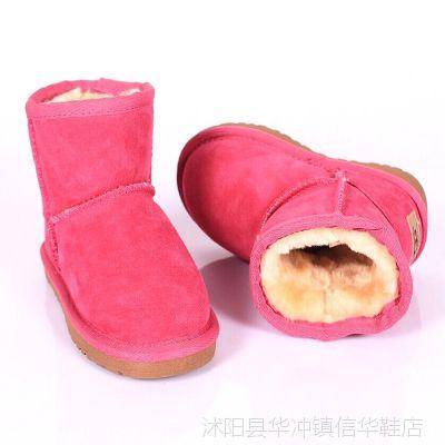 特价清仓批发 雪地靴5854短款 牛筋底平底鞋男女童鞋 宝宝鞋