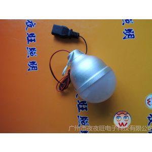 供应厂销12V 低压球泡灯 耐摔磨砂铝灯泡 pc塑料罩乳白 日光LED节能灯