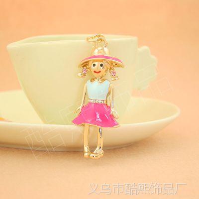 酷熙饰品 时尚创意礼品 可爱女孩草帽裙子 千万女孩的  心爱礼品