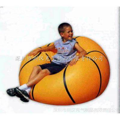 专业生产充气沙发 PVC植绒充气沙发 单人沙发 儿童充气沙发