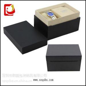 供应天地木胚表盒 品牌手表包装盒