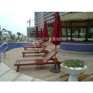 供应海口喜来登酒店躺椅/带扶手的沙滩躺床/泳池旁沙滩椅