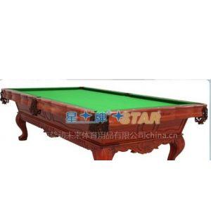供应星牌XW111-9A进口名贵红木纯手工雕刻经典台球桌济南台球桌品牌专卖店