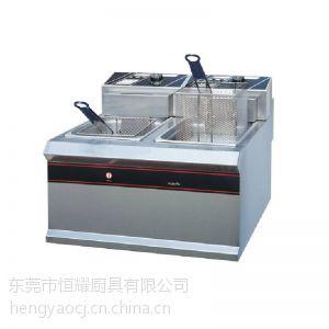 供应新粤海EF-904双缸双筛电炸炉 甜甜圈电炸锅油炸锅炸机 汉堡店设备