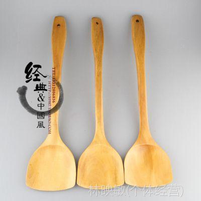 A级39cm木制锅铲 木锅铲 不粘锅锅铲 烹饪木铲 扁柄铲
