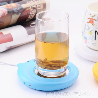 优质USB迷你小熊保温杯垫保温碟便携式恒温宝办公加热杯碟