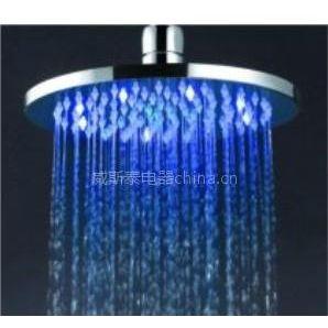 供应LED铜花洒顶喷,LED发光花洒,LED淋浴顶喷