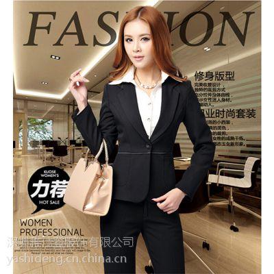 供应供应中高档女式西装,OL职业套装西装,女式正装黑色套装批量定做