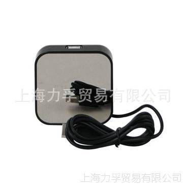 供应销售镜面USB集线器 一托多连USB接口 一托4方形USB接口