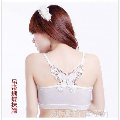 批发优质淘货源 后背蝴蝶结莫代尔裹胸 漂亮性感抹胸 女士内衣