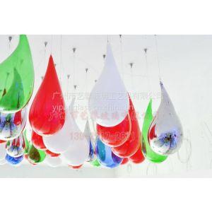 供应空心吹制玻璃水滴 工艺艺术玻璃 灯饰吹制玻璃