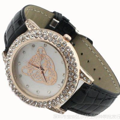 新款皮带水钻手表批发 女士时装表 时尚流行休闲女款手表厂家直销