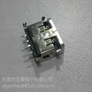 供应蓝牙USB连接器,短体USB1.0,移动电源micro usb5p连接器,迷你USB插座