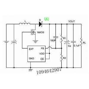 供应供应ME2109外置MOS管可达3A大输出电流电路