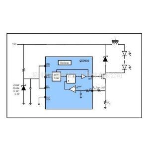 供应供应QX9910适用于大功率,多个高亮度LED灯串恒流驱动