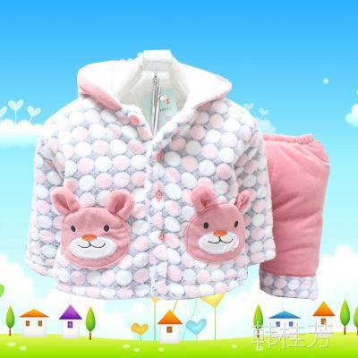 秋冬装棉衣套装男童外出服装婴幼儿女童棉衣服 代理加盟一件代发